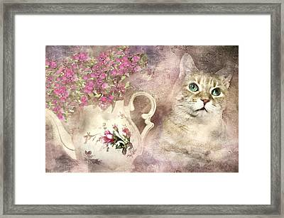 Teapot And Whiskey Framed Print by Diana Angstadt