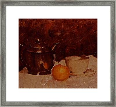 Teapot Framed Print by Chris  Riley