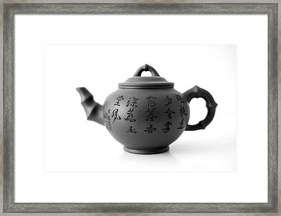 Teapot Framed Print by Gina Dsgn