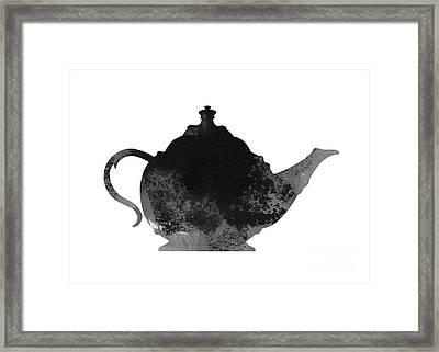 Teapot Kitchen Decor Framed Print by Joanna Szmerdt