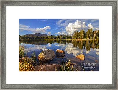 Teapot Lake Framed Print