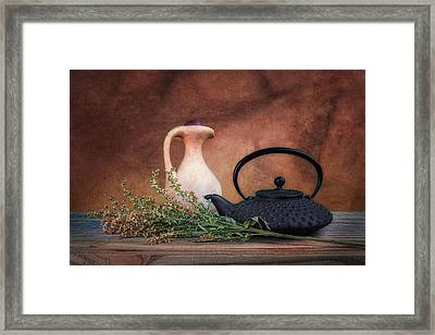 Teapot With Pitcher Still Life Framed Print by Tom Mc Nemar
