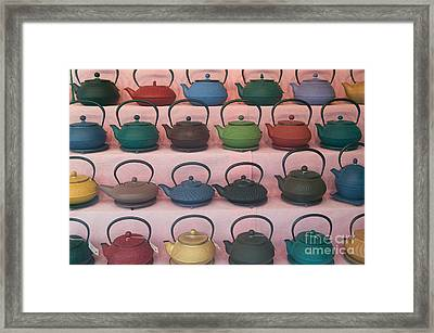 Teapots Framed Print by Clarence Holmes