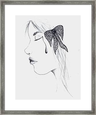 Tear Framed Print by Perggals - Stacey Turner
