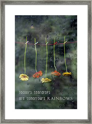 Teardrops Framed Print by Joana Kruse