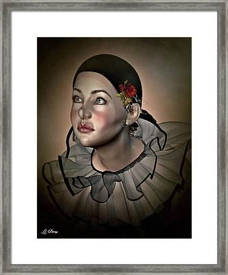 Tearful Pierrot Framed Print