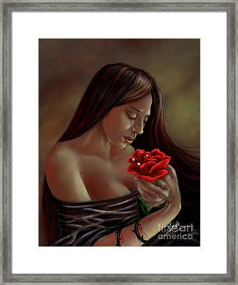 Tears, Blood, Diamonds Framed Print by Amyla Silverflame