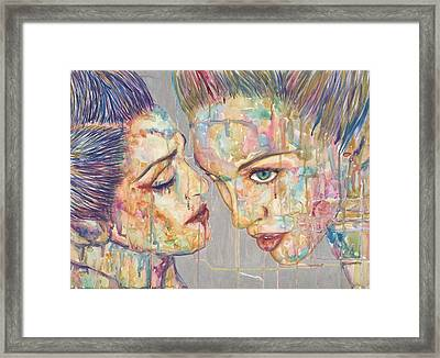 Tears Bursting In A  Perfect Sky Framed Print by Joseph Lawrence Vasile