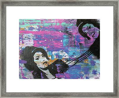 Tears Dry On Thier Own Framed Print