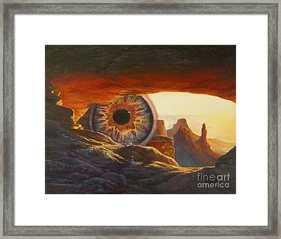 Framed Print featuring the painting Tears For The Earth by Jeanette French