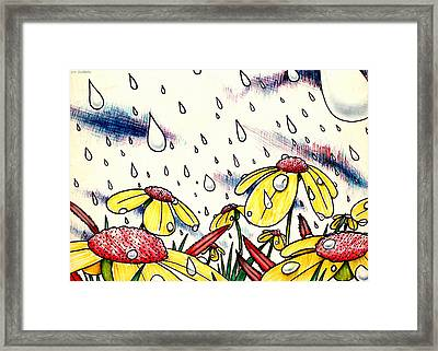 Tears From Above Framed Print by Cristophers Dream Artistry