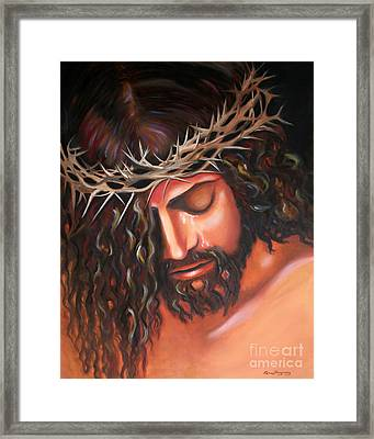 Tears From The Crown Of Thorns Framed Print