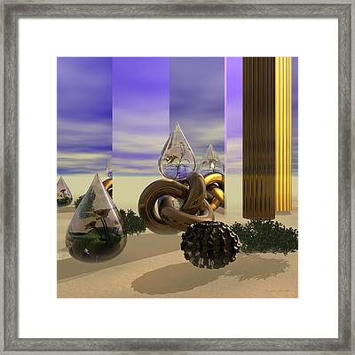 Tears In The Desert Framed Print