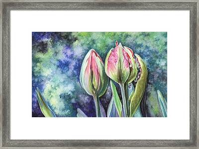 Framed Print featuring the painting Tears by Natasha Denger