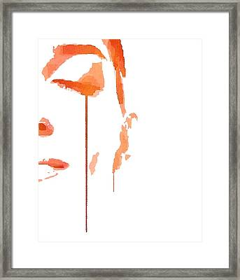 Tears Of Pain Framed Print by ISAW Gallery