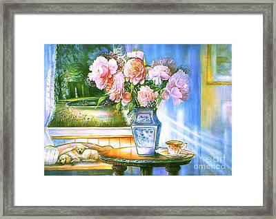 Teatime And Dreams Framed Print by Patricia Schneider Mitchell