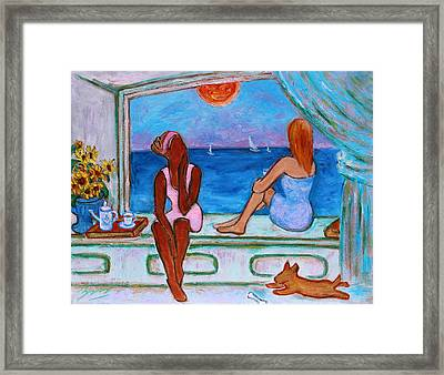 Framed Print featuring the painting Teatime I by Xueling Zou
