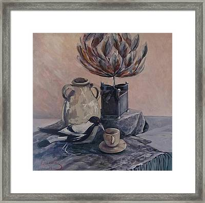 Teatime With Maggie Framed Print
