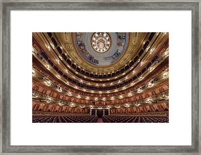 Teatro Colon Performers View Framed Print