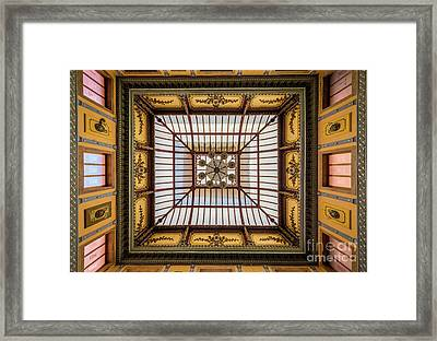 Teatro Juarez Ceiling Framed Print by Inge Johnsson