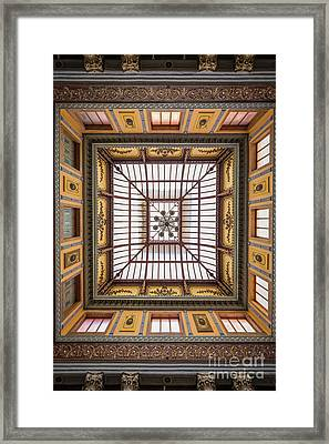 Teatro Juarez Skylight Framed Print by Inge Johnsson