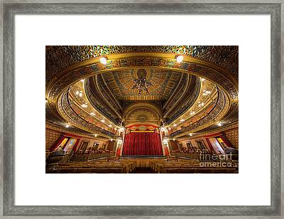 Teatro Juarez Stage Framed Print by Inge Johnsson