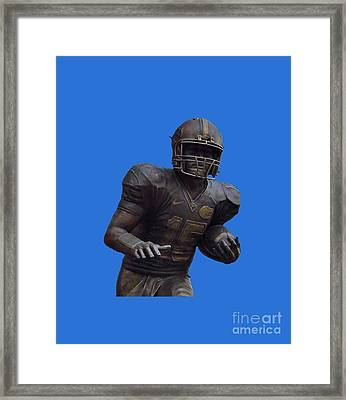 Tebow Transparent For Customization Framed Print by D Hackett