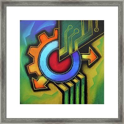 Tech Symbol Framed Print