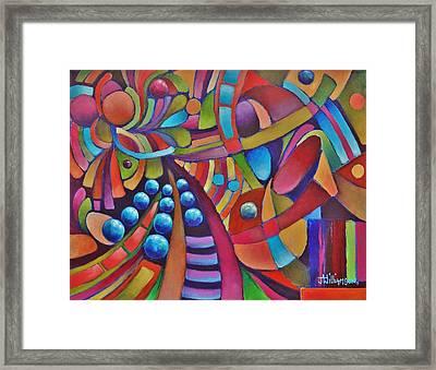 Technicolor Bloom Framed Print