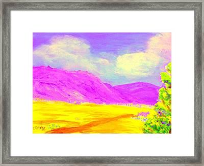 Technicolor Desert Framed Print by Lessandra Grimley