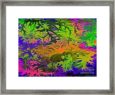 Technicolor Leaves Framed Print