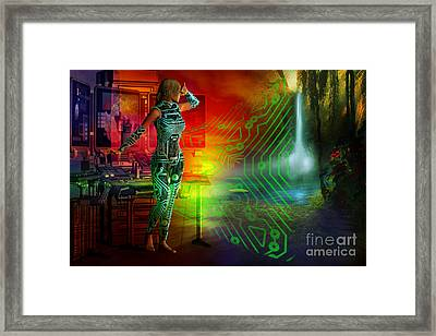 Framed Print featuring the digital art Techno Future by Shadowlea Is