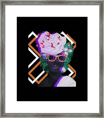 Techno Mieya Framed Print