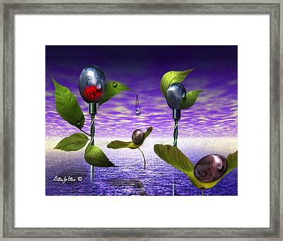 Techno Nature - Flower Drills Framed Print by Billie Jo Ellis