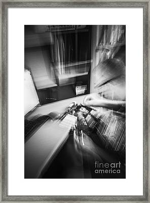 Technologist In The Making Framed Print