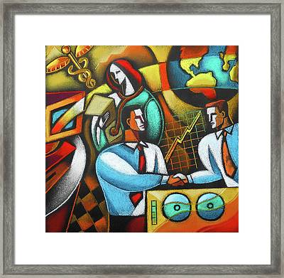 Technology And Healthcare Framed Print