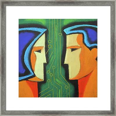 Technology And Intelligence Framed Print