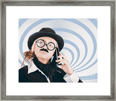 Technology Evolution Of Mobile Phone Communication Framed Print by Jorgo Photography - Wall Art Gallery