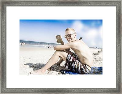 Technology Teens On Holiday Framed Print by Jorgo Photography - Wall Art Gallery