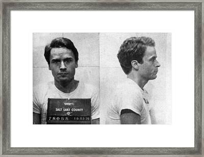 Ted Bundy Mug Shot 1975 Horizontal  Framed Print