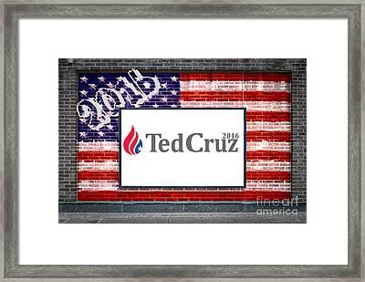 Ted Cruz For President Framed Print