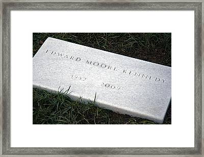Ted Kennedy Had Just Been Buried Framed Print by Cora Wandel