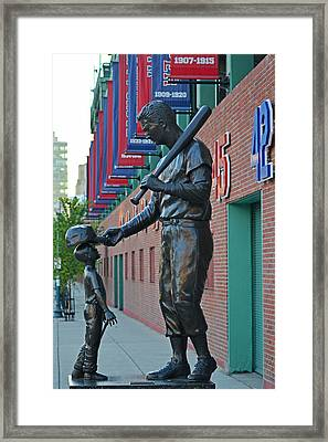Ted Williams Statue Boston Ma Fenway Park Framed Print by Toby McGuire