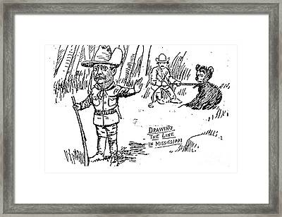 Teddy Bear Cartoon, 1902 Framed Print