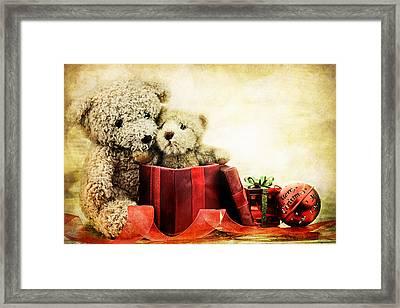Teddy Bear Christmas Framed Print