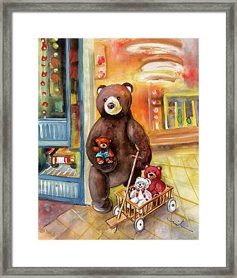Teddy Bear Day Out In Sweden Framed Print by Miki De Goodaboom