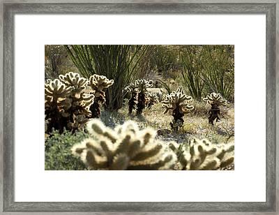 Teddy Bear Forest Framed Print