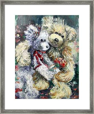Teddy Bear Honeymooon Framed Print