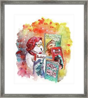 Teddy Bear In Great Ayton Framed Print by Miki De Goodaboom