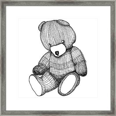Teddy Bear Framed Print by Karl Addison
